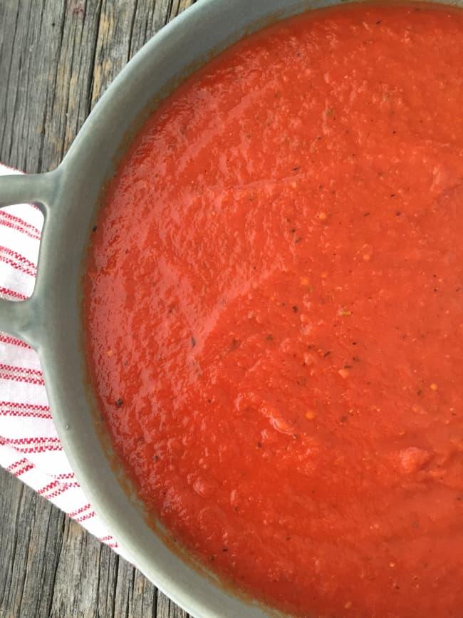 30 Minute Tomato Spaghetti Sauce
