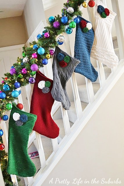 DIY Recycled Sweater Christmas Stockings