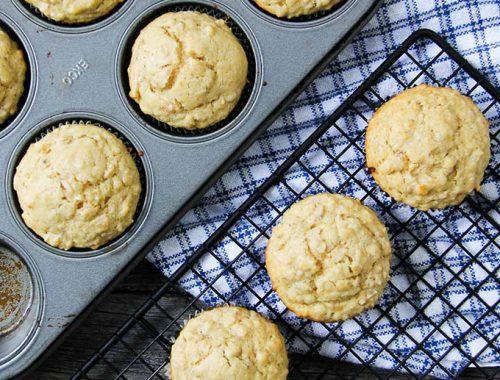 Oatmeal Muffins  {A Pretty Life}