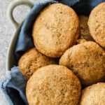 A bowl of fresh baked Bran Muffins