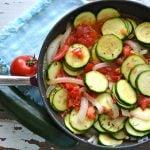 Tomato Zucchini Skillet  {A Pretty Life}2