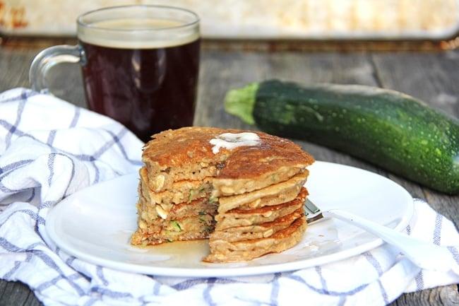 Zucchini Bread Pancakes {A Pretty Life}