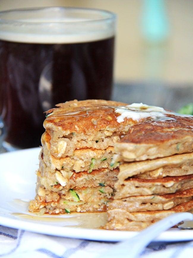 Zucchini Bread Pancakes {A Pretty Life}2