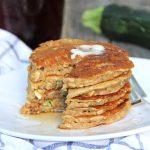 Zucchini Bread Pancakes  {A Pretty Life}Feature