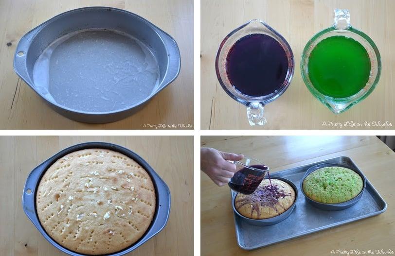 How to Make a Rainbow Jell-O Cake