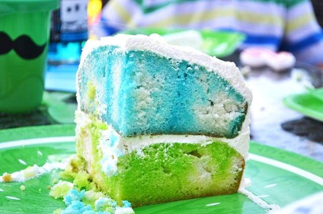 Rainbow Jell-O Cake