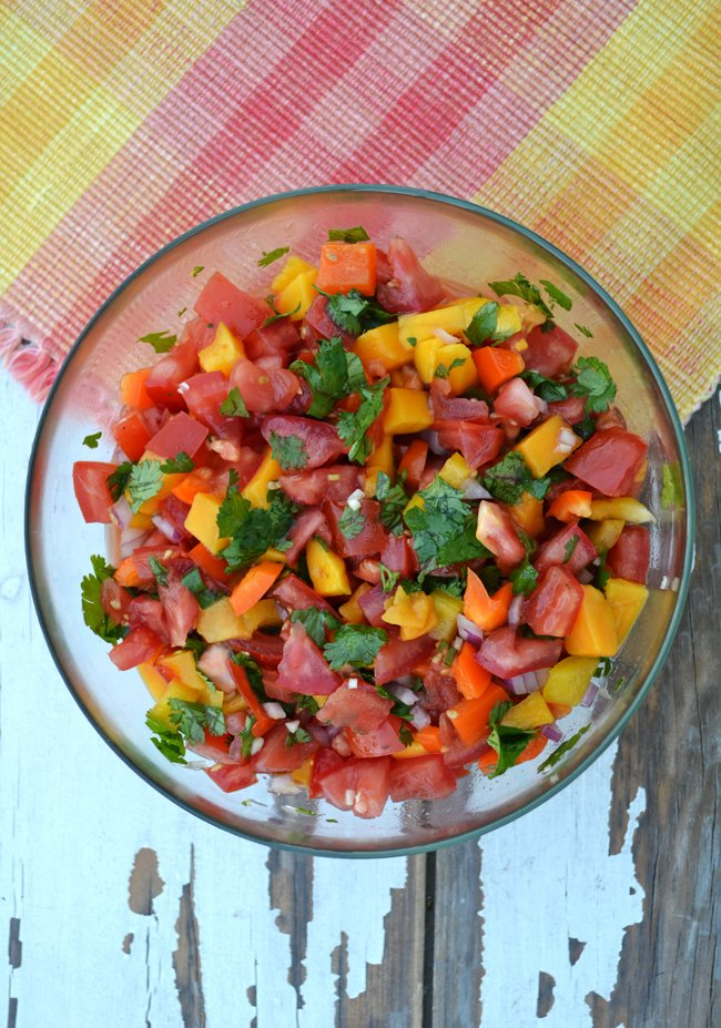 Fresh Tomato and Mango Salsa