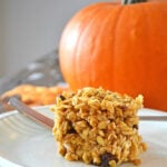 A slice of Pumpkin Spice Baked Oatmeal