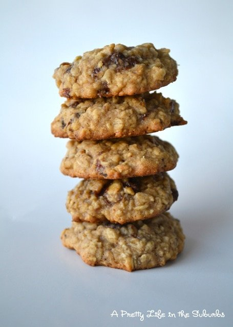 a stack of five Oatmeal Raisin Cookies