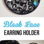 Black Lace Earring Holder