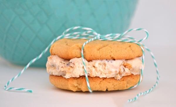 Peanut Butter Cookie Ice Cream Sandwiches
