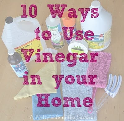 Using Vinegar in you Home {A Pretty Life}