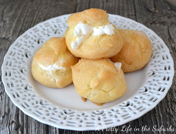 Simple And Easy Cream Puffs A Pretty Life In The Suburbs
