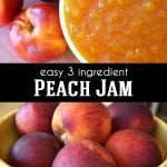 Easy 3 Ingredient Peach Jam Recipe