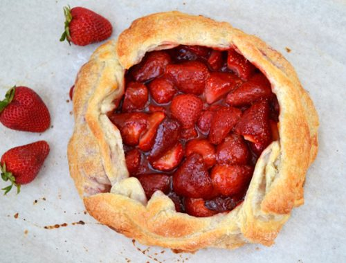Rustic Strawberry Galette  {A Pretty Life}