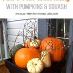 Fall Porch Decorating with Pumpkins and Squash