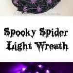 Spooky Spider Light Wreath