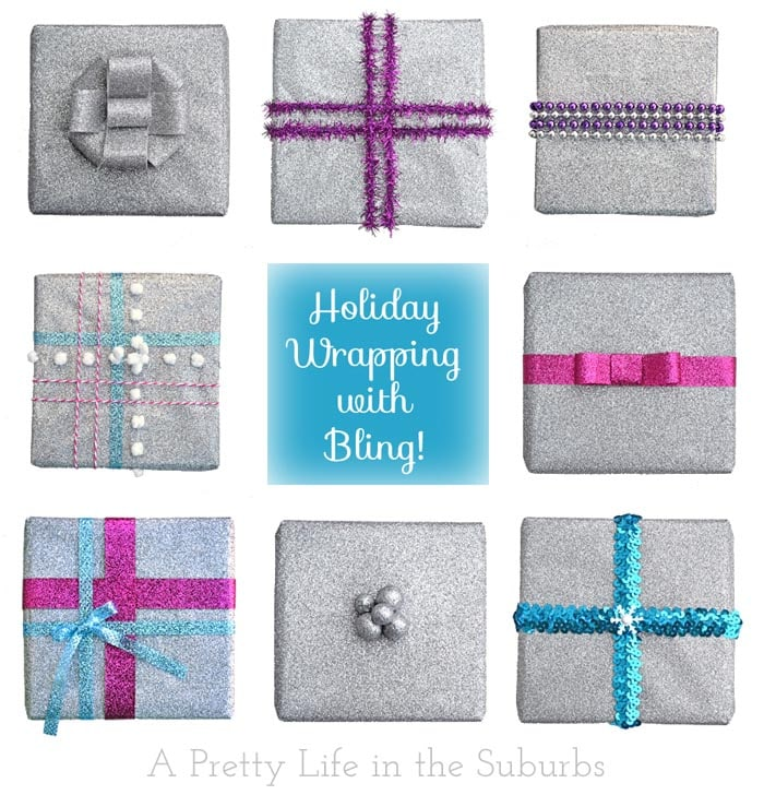 Holiday Gift Wrapping Ideas with Glitter!