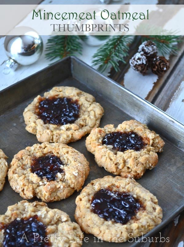 Mincemeat Oatmeal Thumbprints