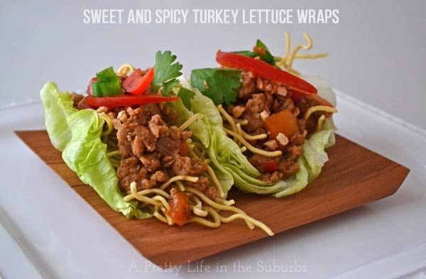 Sweet and Spicy Turkey Lettuce Wraps