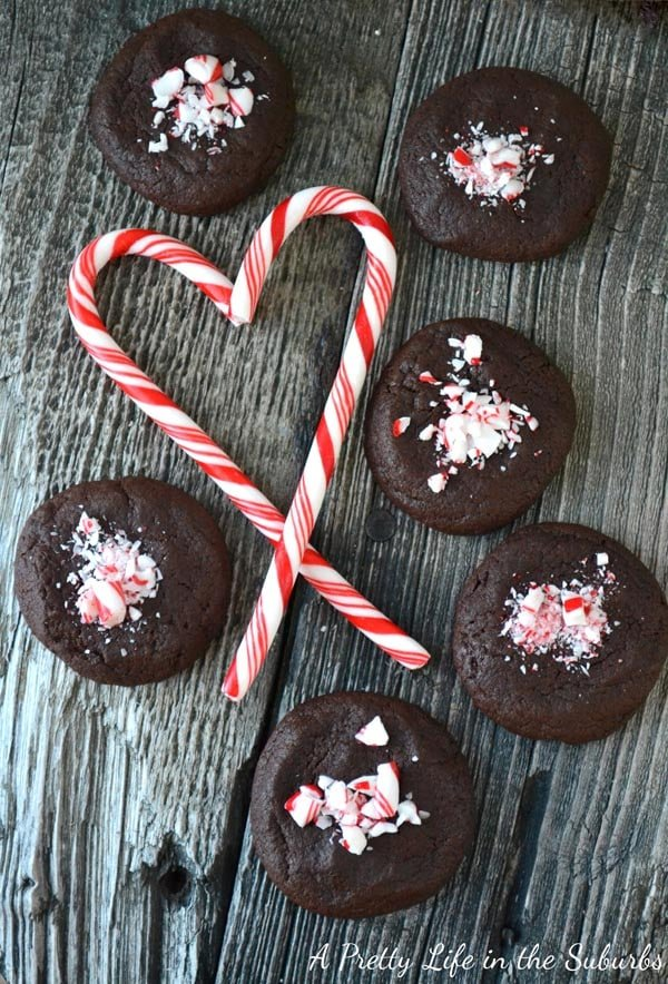 Candy Cane Crumble Nutella Cookies