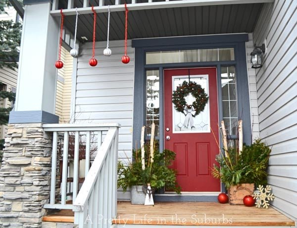 Red & Green Christmas Porch