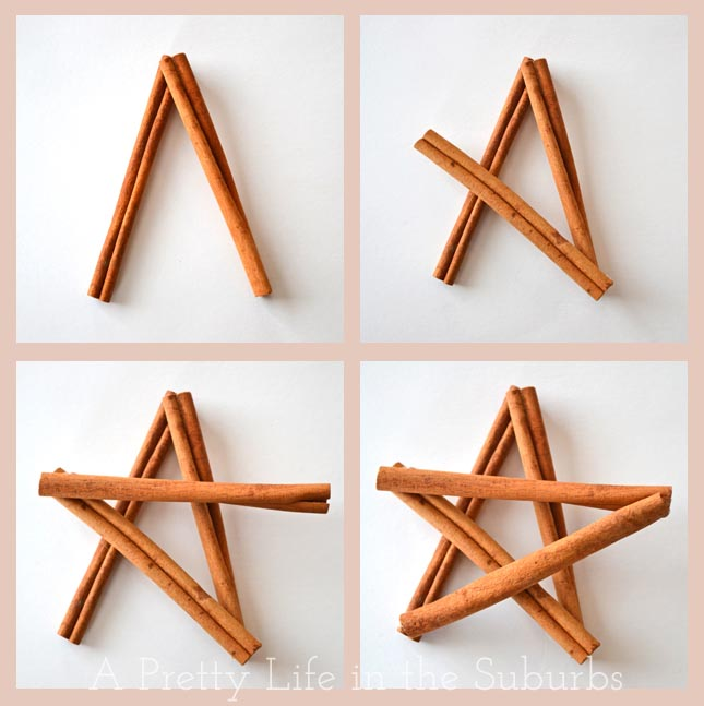 Easy DIY Cinnamon Star Ornament {A Pretty Life}