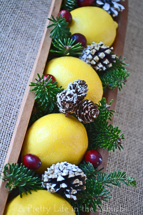 A Pretty Lemon Christmas Centrepiece {A Pretty Life}