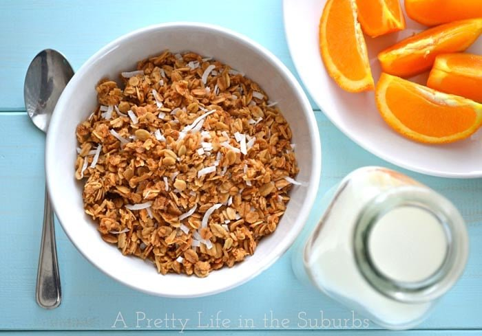 Coconut Honey Granola - A Pretty Life In The Suburbs