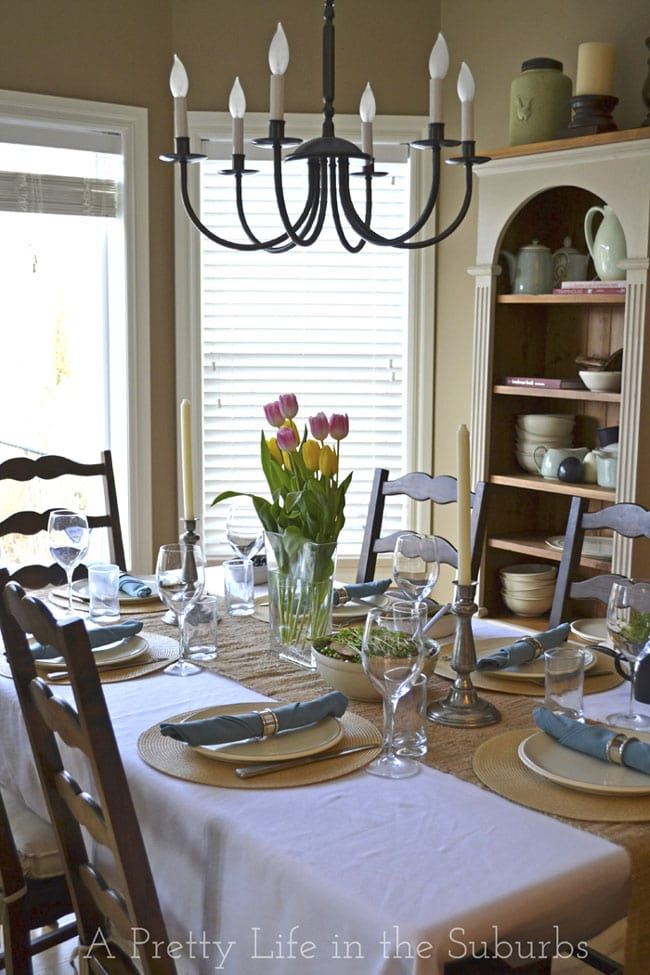 Easter Table Setting {A Pretty Life}