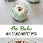 No Bake Mini Grasshopper Pies