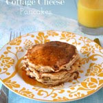 Cottage Cheese Pancakes {A Pretty Life}b