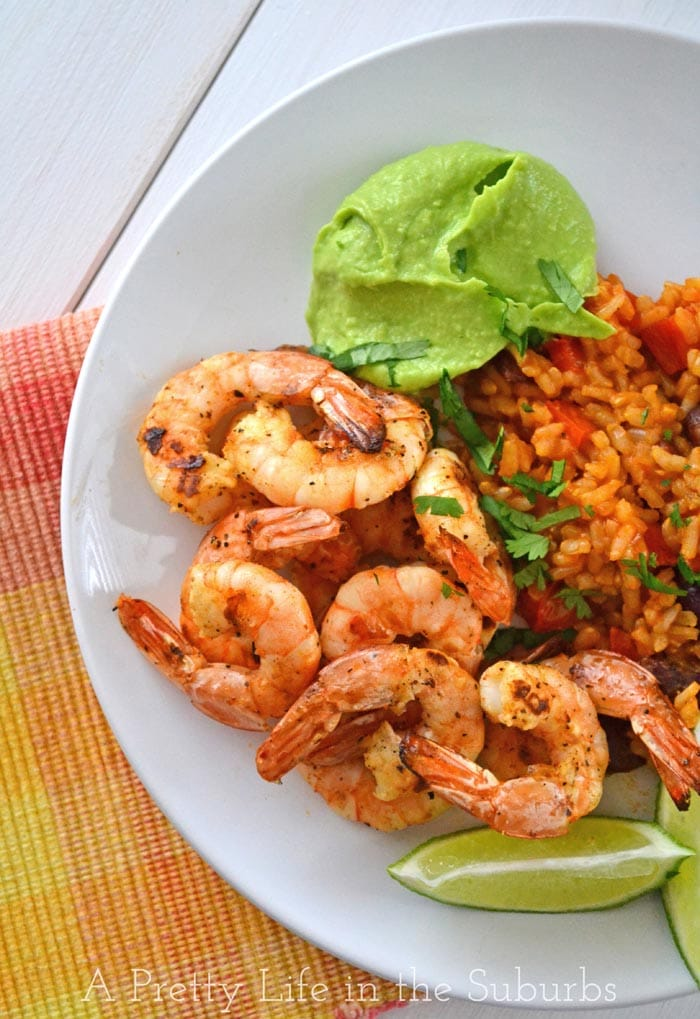 Mexican Grilled Shrimp with Avocado Butter