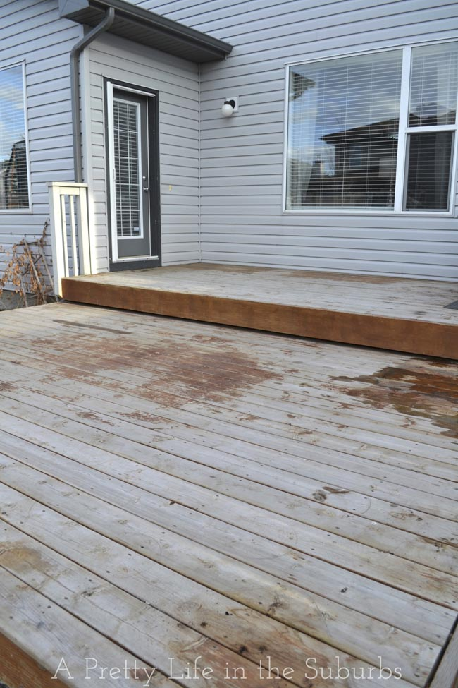 Our Deck Makeover Part 2 Painting A Platform Deck A Pretty Life In The Sub