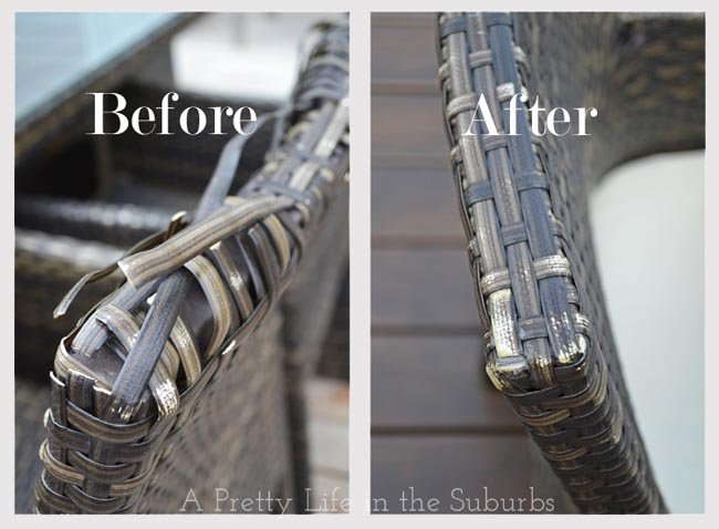 Fixing Outdoor Rattan Furniture A, Plastic Wicker Patio Furniture Repair