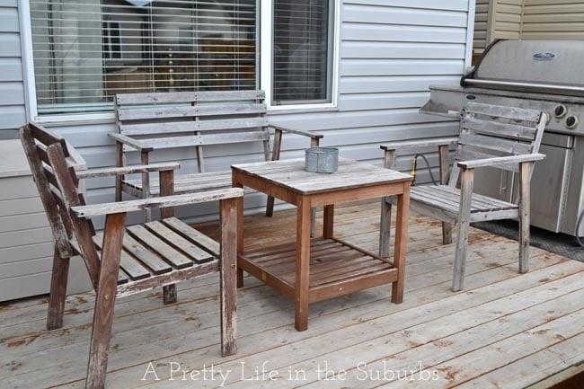 Deck Furniture Before