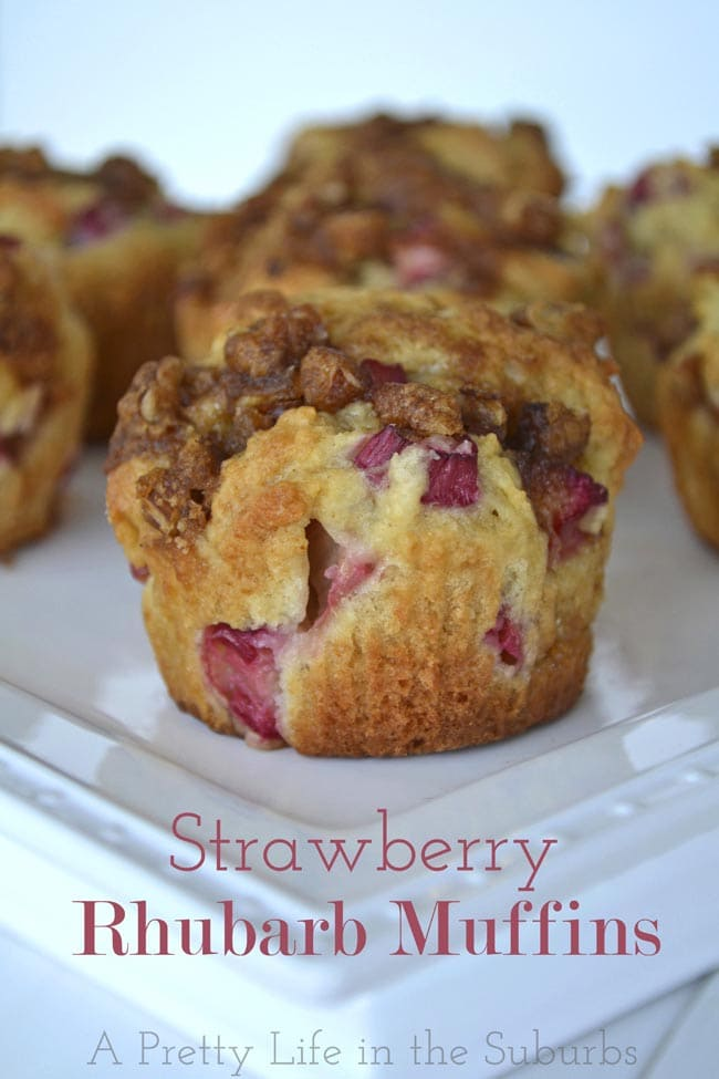 favourite recipes to make with rhubarb are strawberry rhubarb muffins
