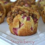 Strawberry Rhubarb Muffins {A Pretty Life}