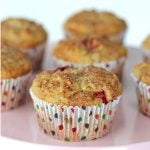 Strawberry Rhubarb Oatmeal Muffin Recipe