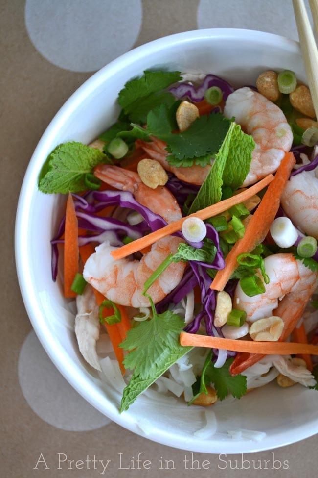 Summer Roll Salad with Peanut Satay Sauce