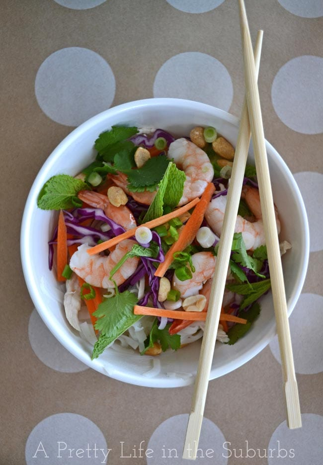 Summer Roll Salad with Peanut Satay Sauce