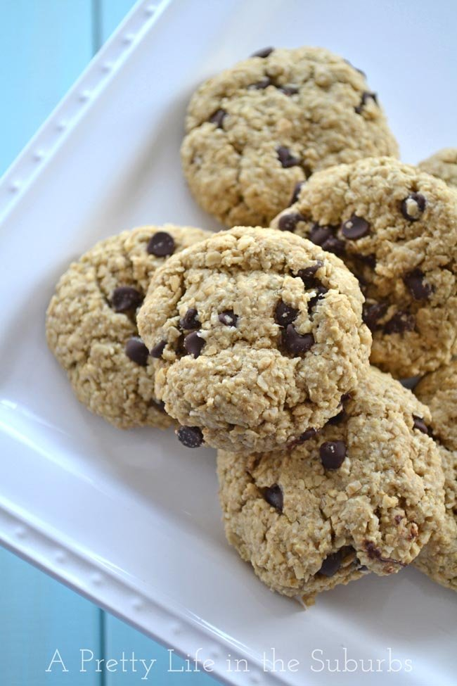 Chocolate Chip Oatmeal Cookies {Wheat Free}
