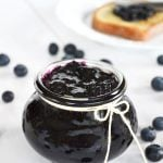 A pot of Blueberry Jam