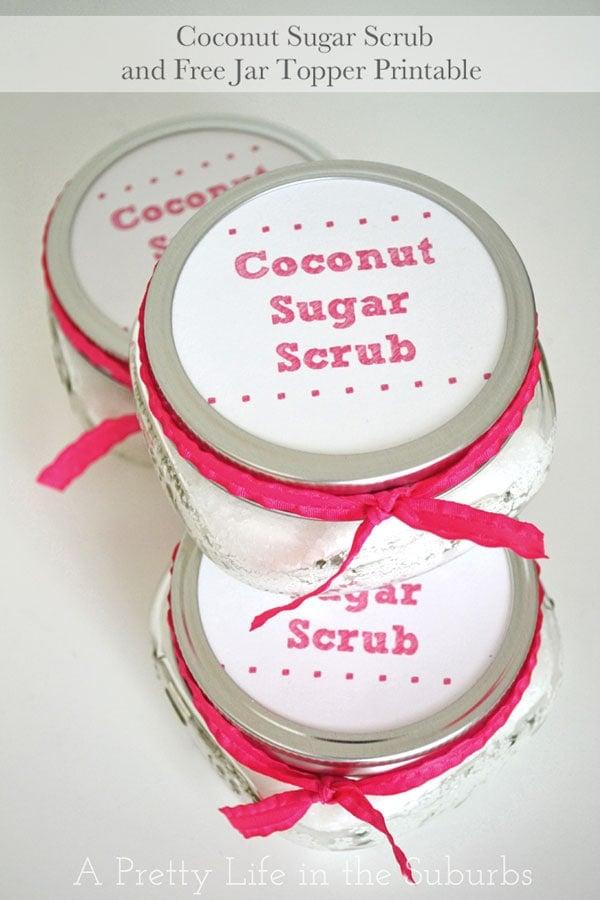 Coconut Sugar Scrub & Printable {A Pretty Life}