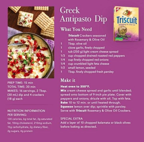 Greek-Antipasto-Dip-Triscuit