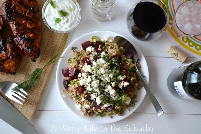 Kasha,-Beet-and-Dill-Salad-{A-Pretty-Life}