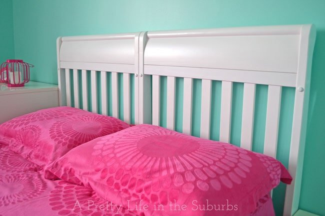 How to turn a crib into a headboard