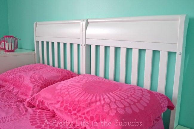 Crib Headboard Repurpose {A Pretty Life}