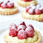 Raspeberry Vanilla Cream Tarts