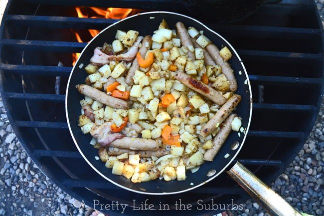 Sausage-Breakfast-Skillet-{A-Pretty-Life}